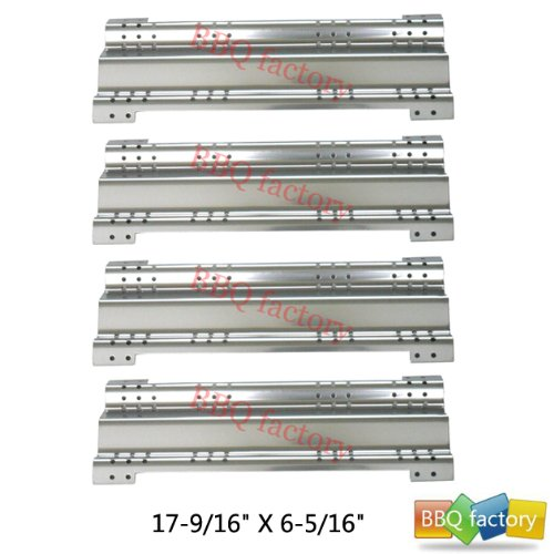 98511(4-Pack) Stainless Steel Heat Plate Replacement For Select Brinkmann And Charmglow Gas Grill Models