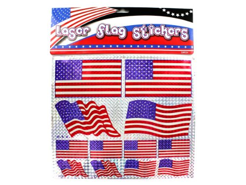 American flag laser stickers - Pack of 48