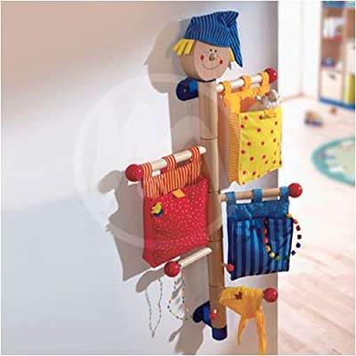 Rotating Wardrobe Handy Hook, by HABA showing attached to wall