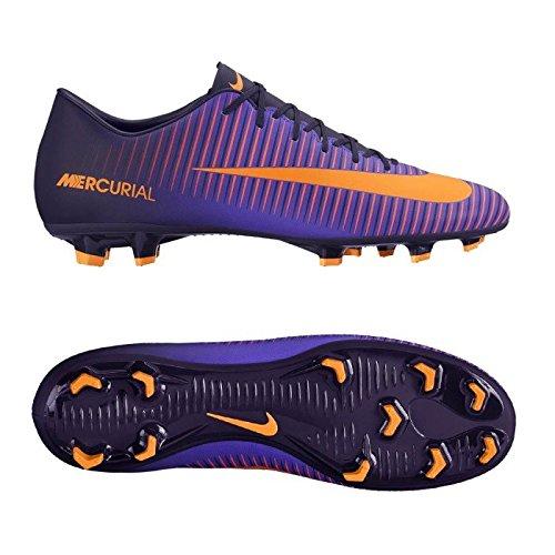 NIKE Mercurial Victory Vi Fg, Scarpe da Calcio Uomo, Multicolore (Purple Dynasty/Hyper Grape/Total Crimson/Bright Zitrus), 42.5 EU
