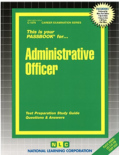 Administrative Officer(Passbooks)