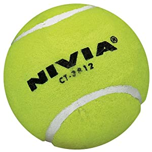 Nivia Heavy Yellow Cricket Tennis Ball