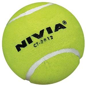 Nivia Heavy Yellow Cricket Tennis Ball