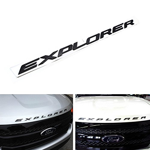 8-letter/set Matte Black Finish Front Hood 3D Letters Stickers Fit For 2011-up Ford Explorer (Ford Explorer Xlt Headlights compare prices)