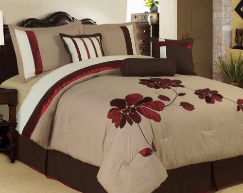 Brown and red bedroom ideas fun fashionable home for Black and burgundy bedroom ideas
