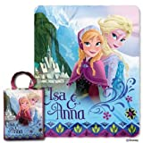 Disney Frozen Elsa & Anna Tote & Throw Gift Set - Sisters Rule