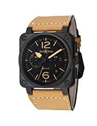 Inexpensive!! Bell and Ross Instrument Heritage Black Dial Chronograph Automatic 42MM Mens Watch BR-03-94-HERITAGE