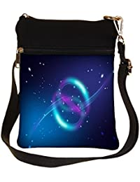 Snoogg Sparkling Circles Cross Body Tote Bag / Shoulder Sling Carry Bag