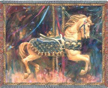 Carousel Horse Throw - 54 X 70 Blanket/Throw