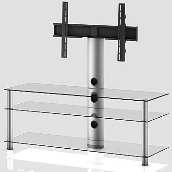Meuble TV NEO-1303 TA - Transparent / Argent
