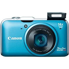 Canon PowerShot SX230HS 12 MP Digital Camera with HS SYSTEM and DIGIC 4 Image Processor (Blue)