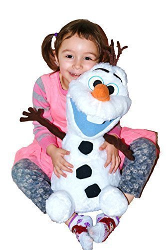 """Disney Frozen Large Fluffy/Soft Plush Olaf With Cute Open Smile. Limited Edition 22""""H (55 cm) . Japan Import. - 1"""