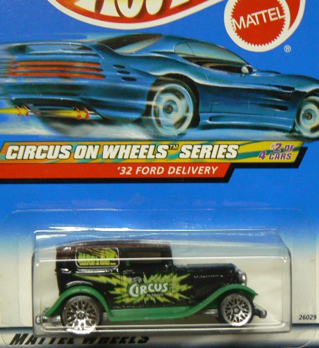 Mattel Hot Wheels Circus On Wheels Series: '32 Ford Delivery: Black/Green 1:64 Scale Die Cast Car #2 of 4: #026 - 1