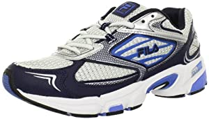 Fila Men's DLS Swerve Running Shoe,White/Navy/Campanula Blue,14 M US