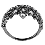 Sterling-Silver-Crown-Ring-Princess-Ring-Black-Rhodium-Plated