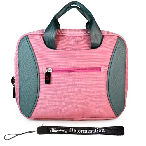 Sony DVP-FX730 7-Inch Portable DVD Player Kroo 2 Tone Tag Series Case Baby Pink + Includes a 4-Inch EbigvalueTM Determination Hand Strap