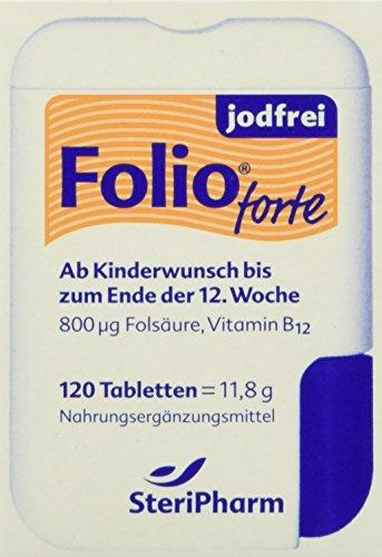 Steripharm Pharmazeutische Produkte Folio Forte Jodfrei Filmtabletten, 1er Pack (1 x 12 g)