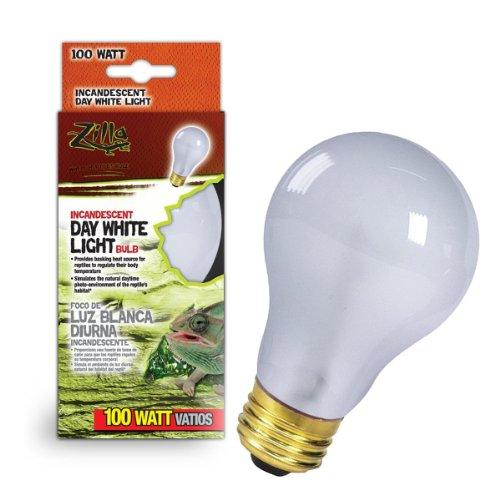 Zilla Reptile Terrarium Heat Lamps Incandescent Bulb, Day White, 100W (Bearded Dragon Heat Lamp Bulb compare prices)
