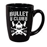 Bullet Club Skull WWE WWF Wrestler Wrestling Black Mug Coffee Cup Gift Home Decor Kitchen Bar Gift for Her Him Any Color Personalized Custom (Color: Black, Tamaño: 12 ounce)