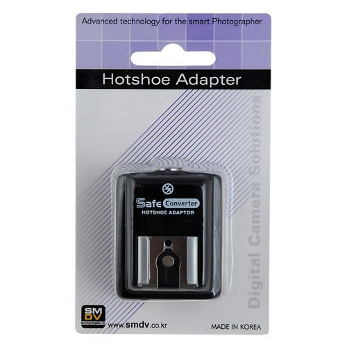 SMDV Hot Shoe Hotshoe Safe Sync Adapter SM-512 for Olympus EVOLT SP-510, SP-550, SP-560, SP-565, SP-570, SP-590, E-620, E-520, E-510, E-450, E-420, E-410, E-400, E-600 & E-30, Olympus PEN E-P1, PEN E-P2, PEN E-PL1