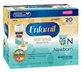 Enfamil Newborn Infant Formula, Plastic Nursette Bottles, 2 Ounce (48 Count) (Packaging May Vary)
