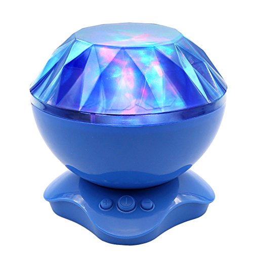 ANTEQI Night Light Aurora Lamp with Speaker Colorful Decorator Rotation Mood Atmosphere Light Projector Gift for Baby Children Nursery Bedroom (Blue) (Blue Mood Light compare prices)