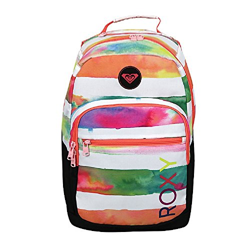 roxy-grand-thoughts-backpack-with-17-laptop-compartment-aqua-tangerine-peach-stripes