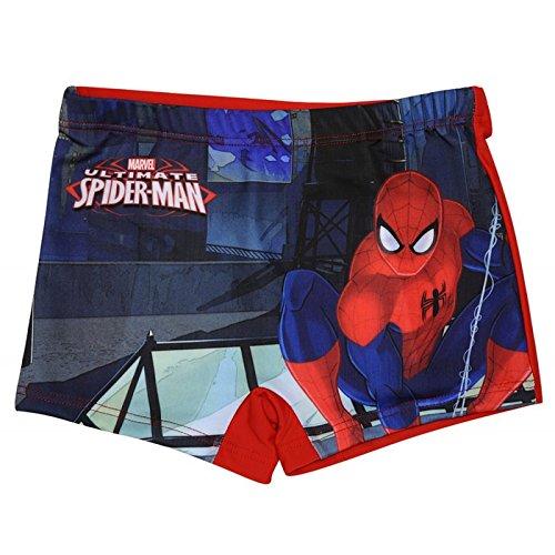 Spiderman-Boxer da bagno di Spiderman ultimate, taglia da 2 a 8 anni 4 anni 6 anni 8 anni, 2 anni rosso 4 anni