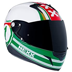 Nexx XR1R Champion Full Face Motorcycle Helmet (Green, X-Large) from Nexx