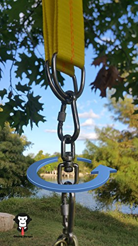 Grrillastraps tree amp patio swing straps for hammocks bench disc web