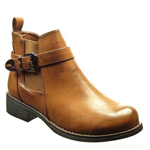 angkorly-chaussure-mode-bottine-chelsea-boots-femme-boucle-metallique-talon-bloc-3-cm-camel-fp018-t-