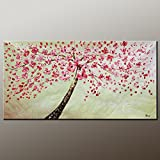 Large Painting Original Art Abstract Flower Tree Painting Vivid Color Acrylic Painting Original Cont