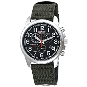 Citizen Men's Eco-Drive Chronograph Canvas Watch #AT0200-05E