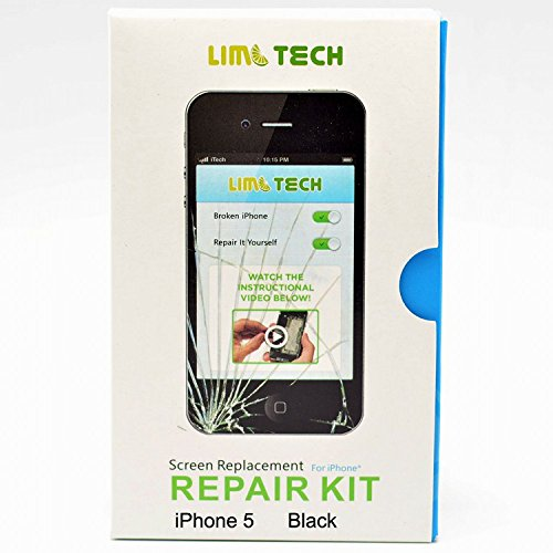 Limtech Iphone 5 (At&T/Verizon/Sprint) Premium Screen Replacement Replacement Digitizer And Touch Screen Lcd Assembly & Repair Kit&Instructions&2Pcs Screen Protectors,Boxed