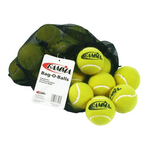 Gamma Sports Bucket or Bag of Pressureless Tennis Balls - Sturdy & Reuseable Poly Bucket or Mesh Bag for Easy...