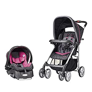 Evenflo Journeylite Travel System with Embrace, Party Pink
