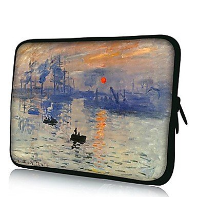 Zcl Elonno Impression Drawing Neoprene Laptop Sleeve Case Bag Pouch Cover For 13¡¯¡¯ Macbook Pro/Air Dell Hp Acer , 13""