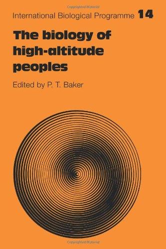 La biología de los pueblos de altura (programa biológico internacional síntesis Series)