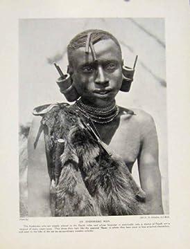 マサイ族の戦士の人の弓矢の Blub の剣のアフリカの印刷物