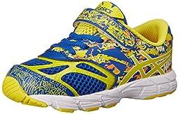 ASICS Kids Noosa Tri 10 TS Running Shoe Blue/Flash Yellow/Orange 7 M US Toddler