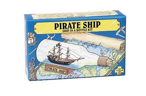 Pirate Ship in a Bottle Kit - Includes All Parts to Create a Mini Ship in a Bottle - VERY Challengin