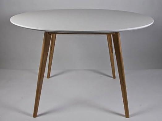 Simla–Tavolo da pranzo rotonda bianca–Simla bianco