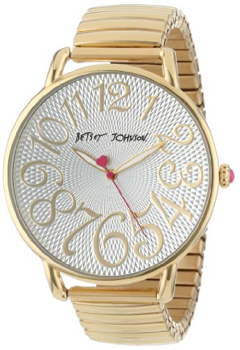 Betsey Johnson Women's BJ00207-03 Analog Gold Expansion Band Watch