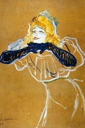 Toulouse-Lautrec-Yvette-Guilbert1894-20x30-cm-weewado-Leinwandbild-auf-Keilrahmen-Wandbild-Kunst-Gemlde-Foto