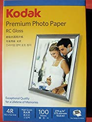 KODAK 270GSM 4X6 PREMIUM PHOTO PAPER RC GLOSS (100SHEETS)