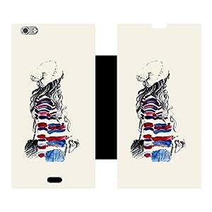 Skintice Designer Flip Cover with Vinyl wrap-around for Micromax Canvas Silver 5, Design - winter girl