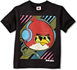 Angry Birds Boys 2-7 Big Neon Bird Juvy Shirt, Black, 7/Large