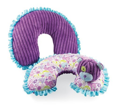 Baby Buds Bear Floral Neck Travel Pillow by Mud