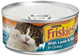 Friskies Cat Food Meaty Bits Senior Diet with Lamb & Rice in Gravy, 5.5-Ounce Cans (Pack of 24)