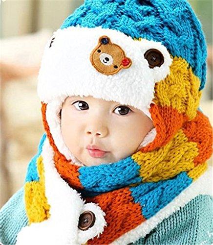 songqeetm-chapeau-bebe-garcon-0-a-24-mois-bleu-conjoined-cap40cmneck-collar-56cm